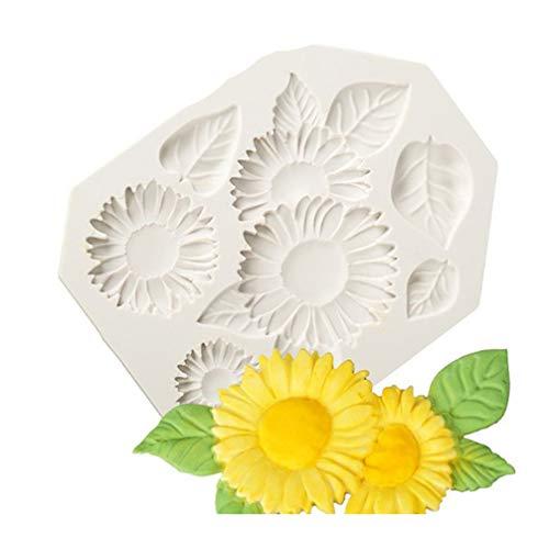Toporchid Grey Sunflower Fondant Kuchen Schokoladenform Eiswürfelform DIY Backen Werkzeug