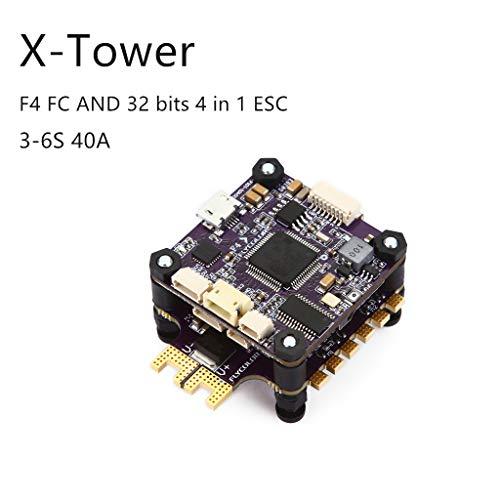 Dapei Flycolor X-Tower F4 BL-32 40A Brushless ESC ARM32-bit Drehzahlregler für RC Drone FPV Racing Quadcopter Ersatzteil Unterstützung 3-6S Eingebauter Stromsensor