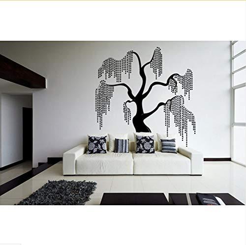Mrhxly Unique & Beautiful Willow Tree Design Fantasie In Der Natur Wandaufkleber Für Schlafzimmer Vinyl Wandbilder Aufkleber Wohnzimmer Dekor79 * 84 Cm