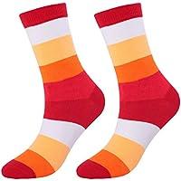 Lubier Calcetines largos de hombres de la moda a rayas tubo de algodón otoño e invierno espesante desodorante hombres y mujeres calcetines