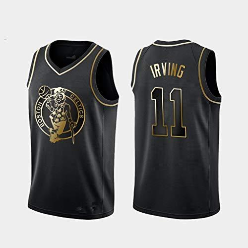 HS-MANWEI Jersey Boston Celtics No.11 Kailiwen Stickerei Basketballanzug Atmungsaktiv Schnelltrocknend Sommer Sportswear Schwarz,XXL190~195CM85~95KG -