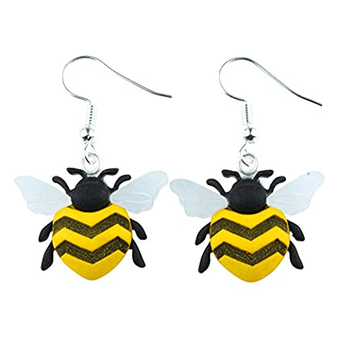 TFB - FUNKY BUZZY BEE DANGLE EARRINGS - GIFT BOX AVAILABLE