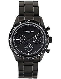 Reloj Mixta Zadig & vortaire de cuarzo reloj negro 36mm y pulsera Negro de acero zvm301