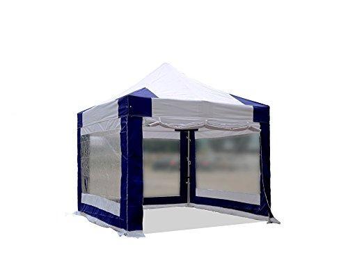 interouge Zelt klappbar, 3x 3m Aluminium und Polyester 300g/m² Pavillon, faltbar Barnum mit...