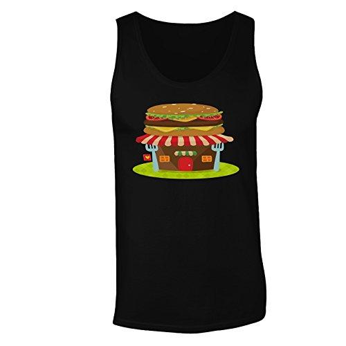L'arte del chef dell'alimento di hamburger divertente canotta da uomo b519mt Black