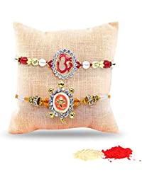 Tied Ribbons Set Of 2 Rakhi With Roli Chawal Pack For Men/Boys