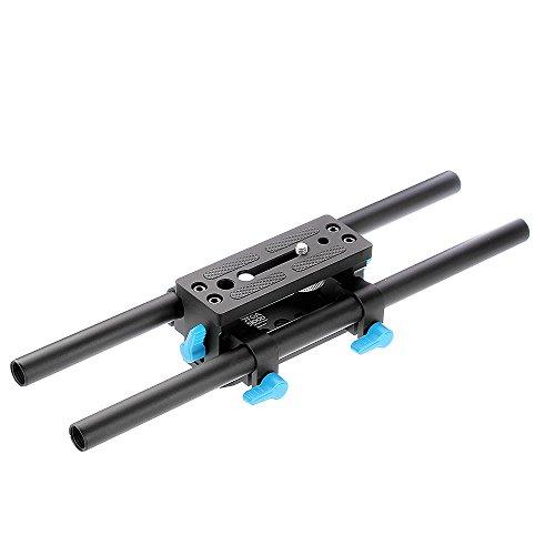 Fotga DP3000 M2 15mm Schiene Rail Rod Basisplatte Base Plate Support for Follow Focus Matte Box DSLR Camera A7 GH4 GH5 - Matte Box Rod Support