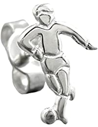Jewelry Earrings football player from 925 silver 11.5x7mm