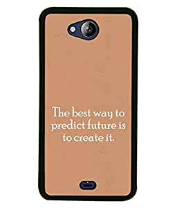PrintVisa Designer Back Case Cover for Micromax Canvas Play Q355 (Words Sayings Quotations Future)