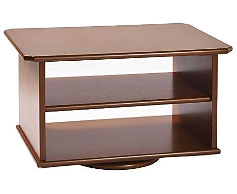 TV Swivel Stand 2 Tier Furniture Media Storage Shelving Cabinet