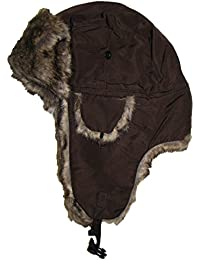Unisex Winter Waterproof Trapper Hat With Faux Fur Lining 3 Colour Warm Ushanka