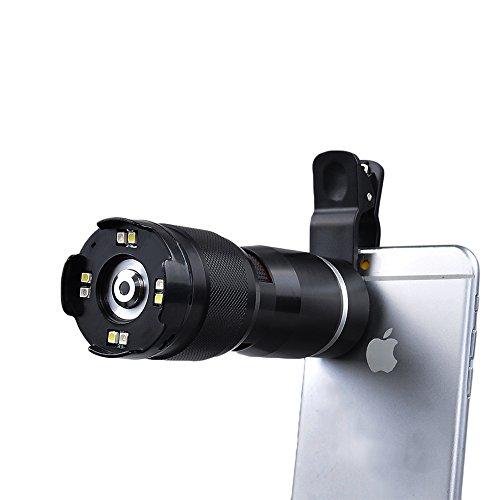 Apexel Schutzhülle 400x optischer Zoom Mikroskop Lupe Objektiv mit Universal Clip für Iphone 6/6S Plus 6/6plussamsung Galaxy HTC und die meisten smartphone-black