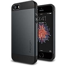 Spigen SGP10365 - Funda para Phone SE, iPhone 5S / 5 [Slim Armor], color  negro Metal Slate
