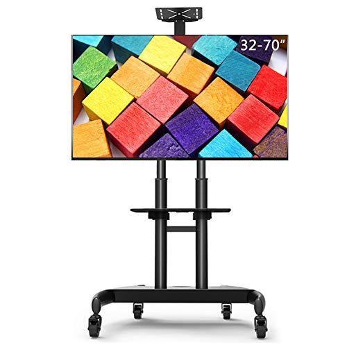 Entertainment-konsole Plasma Lcd (XUE Mobiler TV-Bodenständer mit Regalböden und abschließbaren Rollen, für die meisten Fernseher von 81-70 Zoll (81-178 cm), mit schwenkbarer Halterung und Höhenverstellung)