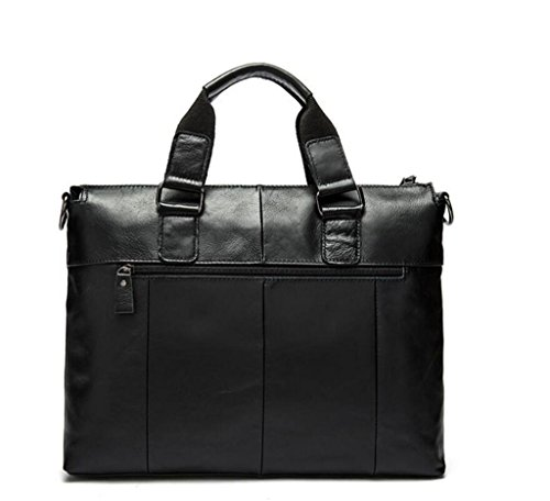 Shfang Mens Leather Bag / Casual Business Mens Handbag / Mens Shoulder Bag / Briefcase / Messenger Bag, 2 1