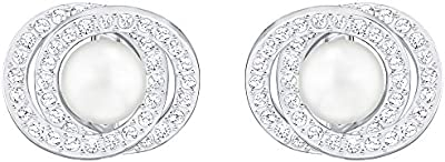 Swarovski Elaborate Pierced Pendientes, blanco 5289270