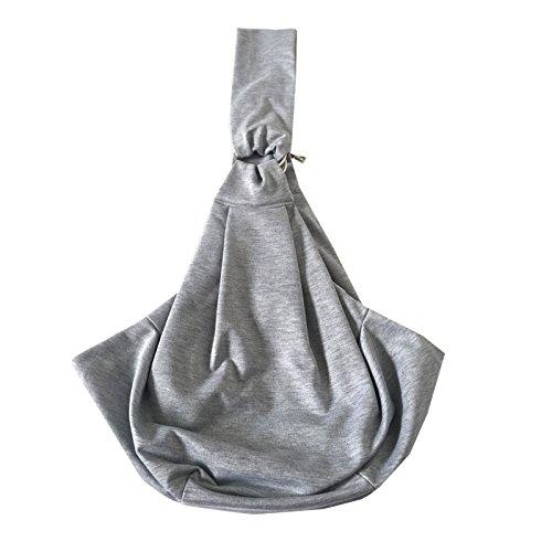 Herz Tote Handtasche (PETUPPLY Pet Tragetuch Sicher Wendbar Bequem Maschinenwaschbar ddjustable Tasche Single Schulter Tragen Tote Handtasche für Haustiere Unten 11LB, Grau)