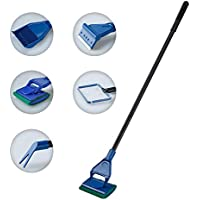 Lysport 5 en 1 Completo acuario conjunto de limpieza de tanque de pescado red de pescado + rastrillo + rascador + tenedor + esponja de cepillo de vidrio acuario herramienta de limpieza