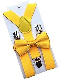 ECYC® Fashion Adjustable Elastic Boys Girls Suspenders Pajarita Kids Braces