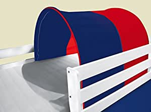 tunnel h hle f r hochbett spielbett blau rot tsg 51 k che haushalt. Black Bedroom Furniture Sets. Home Design Ideas
