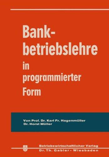 Bankbetriebslehre in programmierter Form