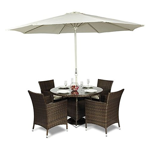 Round garden table and chairs for Garden furniture table and chairs