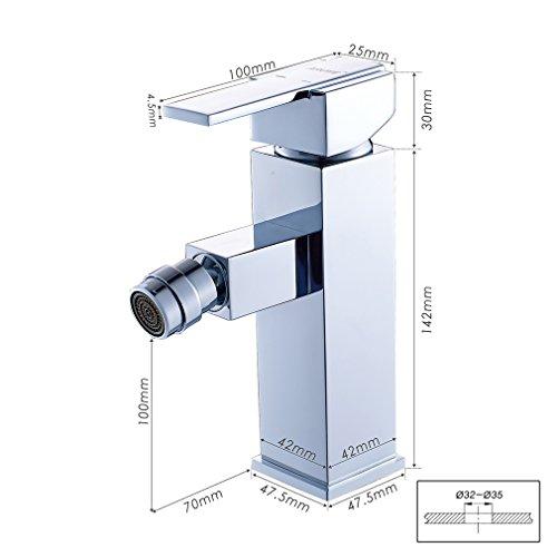Auralum® Bidetmischer Bidetarmatur Badarmatur Einhebelmischer Bidet Wasserhahn