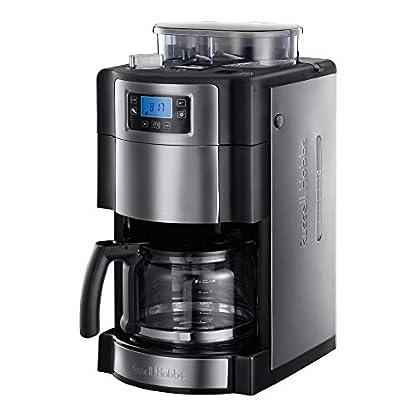 Russell-Hobbs-Digitale-Kaffeemaschine-Buckingham-GrindBrew-Mahlwerk-fr-Kaffeebohnen-9-stufige-Mahlgradeinstellung-Timer-Funktion-bis-12-Tassen-15l-Glaskanne1000W-Filterkaffeeautomat-20060-56