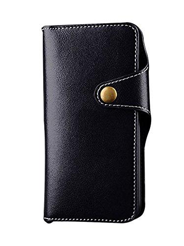 LaoZan Etui iPhone, Flip Housse en Cuir PU avec Fermeture Magnétique, Housse De Protection Portefeuille Coque