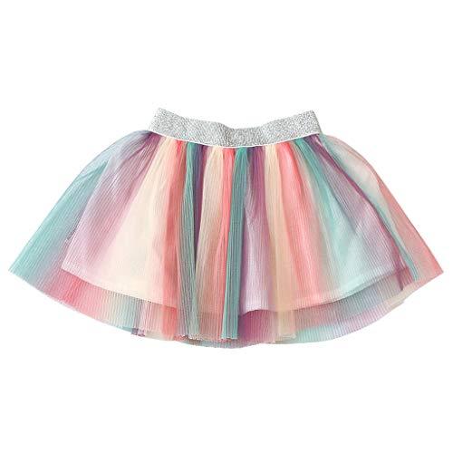 squarex  Baby Dance Rock Mädchen einfarbig Kleid Kinder elastische Tutu Rock Mädchen Pettiskirt Ballett Kostüm Casual Rock