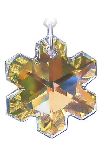 Hängen Suncatcher/Kristall Rainbow Maker mit 25mm aurora borealis Schneeflocke Kristall–aus mit einem Swarovski-Kristall (Schneeflocke Suncatcher)