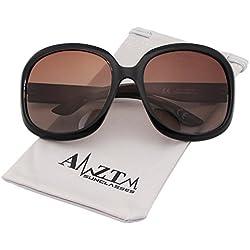AMZTM Damen Klassisch Retro Brille überdimensioniert Polarisiert Sonnenbrille Frauen