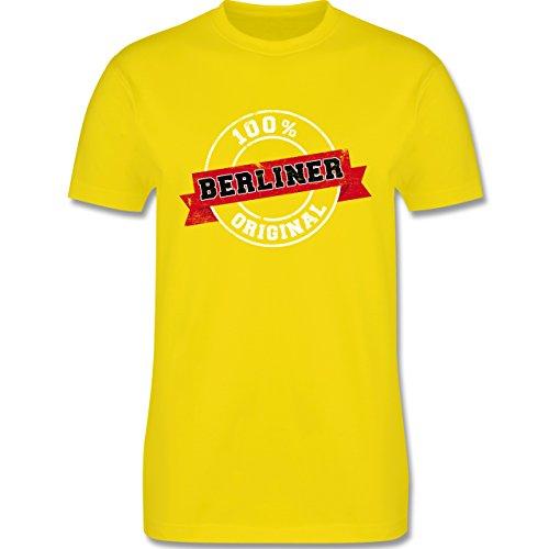 Städte - Berliner Original - Herren Premium T-Shirt Lemon Gelb