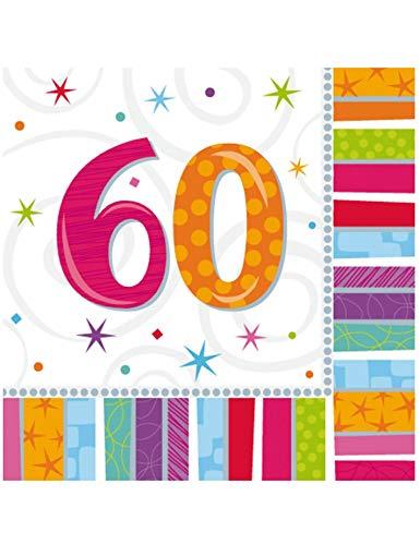 Generique - 16 Papier Servietten 60 Jahre