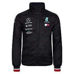 Offizielle Formel-1-Merchandise - AMG Petronas Motorsport - Wattierte Teamjacke - Schwarz