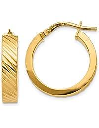 66d225c1482e aros planos - Oro amarillo   Mujer  Joyería - Amazon.es