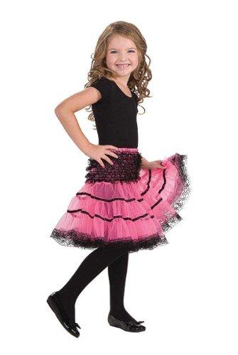 3Reifrock rutschfest, Pink/Schwarz, Einheitsgröße (Pudel-rock-kostüm Für Kinder)