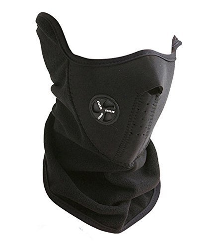 Neoprene Neck Warm Half Face Mask Winter Sport Mask Anti Fog Windproof Bike Bicycle Cycling Mask Ski Snowboard Outdoor Masks Dustproof, Black  available at amazon for Rs.199