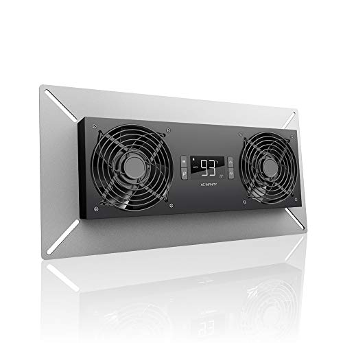 AIRTITAN T8-N, Crawlspace Basement Ventilator Fan, with Temperature and Dehumidistat Controller, IP-44 Rated, Intake Backup-alert-system