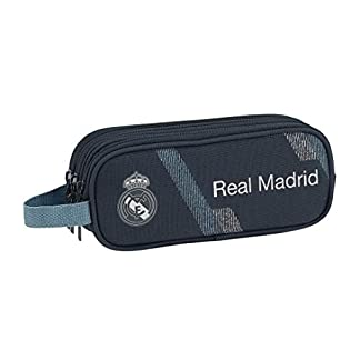 Safta Portatodo Triple Real Madrid, Color Azul, 21 cm (811834635)