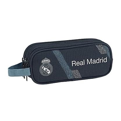 Safta 231190 Real Madrid 2 Estuches 21 cm, Azul