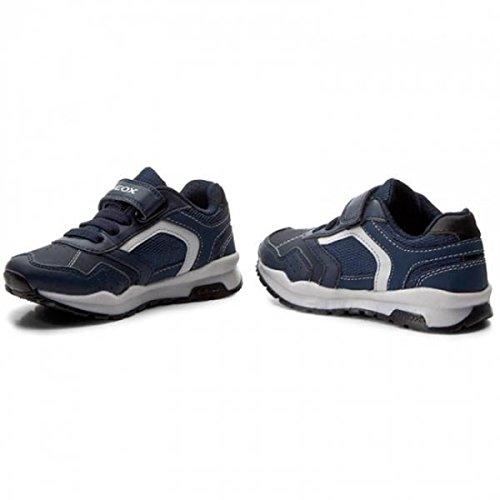 Geox J745DB Jr Coridan Modischer Jungen Halbschuh, Sneaker, Gummizug mit Klettverschluss, Atmungsaktiv Blau (Navy/Avio), EU 29