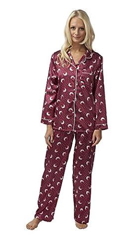 Costume Robin Rouge - Womens Mesdames Nightwear Sleepwear Robin imprimé manches