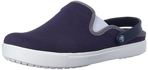 crocs CitiLane canvas Clog, Unisex-Erwachsene Clogs, Blau (Navy/White 462), 45/46 EU (10 Unisex-Erwachsene UK)