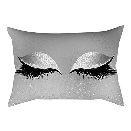 Weich Samt Kissenbezug 30x50 cm Polster Abdeckung Marmor Kissen Fälle Zuhause Sofakissenbezug Pillowcase Dekoration(K,1 PC) ()