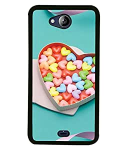PrintVisa Designer Back Case Cover for Micromax Canvas Play Q355 (Blue colour back Cute girl Simple pretty Designer Case White flower design Cell Cover Scary owl Smartphone Cover Black strip bottom Good Looking girly )