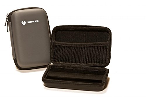 "Case4Life Gris 2,5"" rigide housse Étui disque dur externe pour Toshiba STOR.E Canvio Basics / Steel / Partner / ALU / 500Go / 1To / 1.5To / 2To - garantie à vie"
