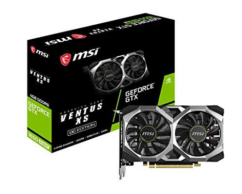 MSI Gaming GeForce GTX 1650 Super 128-Bit HDMI/DP/DVI 4GB GDRR6 HDCP Support DirectX 12 Dual Fan VR Ready OC Graphics Card (GTX 1650 Super Ventus XS OC)