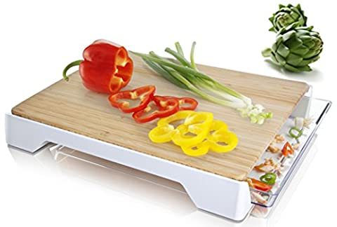 Tomorrow's Kitchen 4685260 Planche de découpe avec bac en Plastique Multicolore 38,6 x 31,4 x 10