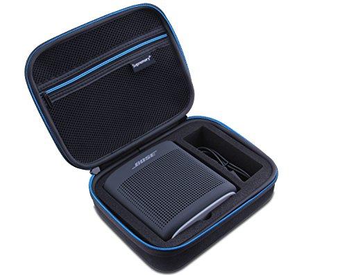 Supremery Bose SoundLink Color 2 Bluetooth Lautsprecher Case Hülle Eva Reisetasche mit Tragegriff - Wasserabweisend in Schwarz-Blau